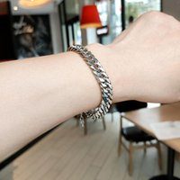 Link, Chain High Quality Stainless Steel Bracelets For Men And Women Blank Color Punk Curb Cuban Link On The Hand Jewelry