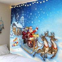 Tapicería de Navidad Santa Claus fondo pared colgante tapicería decoración de vacaciones Artículos para el hogar 210609
