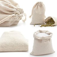 Gift Wrap 10PCS Cotton Drawstring Bag Household Coin Travel Storage Jewelry Packaging Xmas Pouch Reusable Linen