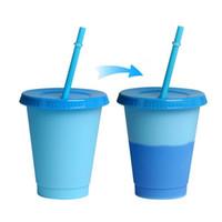 US Couleur Couleur Changer de mugs drôles Coupe d'eau 160Z Couleur réutilisable Changement de gobelets froids à la gobelet en plastique Discoloration de l'eau froide