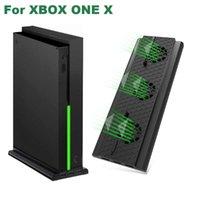 تحكم اللعبة المقود حامل العمودي ل Xbox One X Console Gamepad Controle مروحة تبريد مع 3 منافذ USB Support Charger Controller