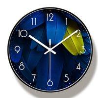Wall Clocks Bird Feathers Clock Art Nordic Style Modern Minimalist Atmospheric Living Room Silent Quartz