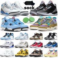 Nike Air Jordan 4 3  Hommes Designer Chaussures De Basketball Tinker Moka Katrina JTH NRG Ligne De Lancer Libre Ciment Noir Corée Pure White Top Trainer Sports Sneaker