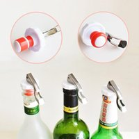 Multifunctional Beer Red Wine Tool Stainless Steel Bottle Opener&silicone Cork Wine Stopper Creative Kitchen Accessories BWD8107