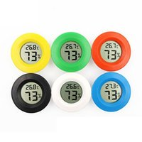 2021 New Embedded circular electronic thermometer and hygrometer mini LED wireless design