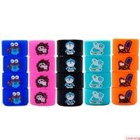 Silicon Vape Band Rings Gravierte Cartoon Silikonkautschukschutz Dekorative Schönheits-Ringdurchmesser 16mm für Evod Ego T Twist Series Batterie