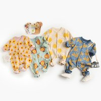 Milancel 2021 Детская Одежда Весна Новый Малыш Девушки Rompers Мультфильм Малыш Мальчики Одежда 210317