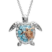 Casual Necklace for Women Zircon Charm Beach Turtle Necklaces Sliver Rose Gold Unique Jewelry Gift
