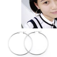 Hoop & Huggie Earrings For Women Stainless Steel Fashion Simple Gold Silver Color Circle Round Cartilage Piercing Jewelry
