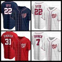 Washington Baseball Jersey Nacionais Custom 22 Juan Soto 31 Max Scherzer 7 Trea Turner Bryce 6 Anthony Rendon 34 Harper 37 Stephen Strasburg