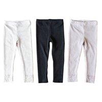 Девушки леггинсы кружева дети колготки хлопок тощие брюки весна осень милые девушки брюки детская одежда 3-7Y B4002