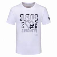 2021 Mens T Gömlek Moda Yüksek Kaliteli Erkek Kadın Çiftler Rahat Kısa Kollu Yuvarlak Boyun Tees 5 Renkler M-3XL W96