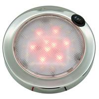 interiorexternal lights 보트 돔 P4 LED 인테리어 빛 RV 캐러밴 캐빈 화이트 / 레드 - 12V