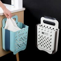 Laundry Bags Bathroom Folding Dirty Clothes Storage Basket Household Wall Hanging Large Portable Punch-Free Put Bucket