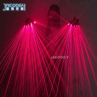 장갑 장갑 고품질 빨간색 레이저 바 나이트 클럽 무대 공연 Orscent 소품 음악 축제 LED 빛나는 안경