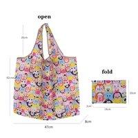 여성을위한 새로운 에코 친화적 인 토트 백 대용량 방수 접이식 쇼핑백 재사용 가능한 스토리지 가방 홈 일어도 가방 owf5093
