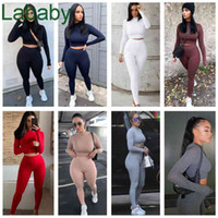 Women Tracksuits Two Pieces Set Designer Solid Color Slim Long Sleeve Pants Breathable Trendy Sports Suits Outfits Sportwear 13 Colours