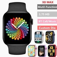 Tasarımcı Lüks Marka Saatler Al X8 Max Smart 1.75 inç Özel Dia BT Çağrı Spor Uyku Monitör Kalp-hızı Erkek Kadın IWO Akıllı PK IWO13