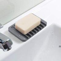Мода силиконовые мыльные блюда пластины Держатель для поддоны для дренажеров для хранения Душевая для ванной комнаты для ванной комнаты для ванной кухня HWF8885
