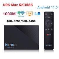 H96 Max RK3566 Quad-Core Android 11 Caixa de TV 8GB RAM 64GB ROM 1000M 2.4G / 5G WiFi BT4.0 H96max TVBox Set Top Box 4K Media Player