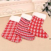 حساسة لطيف أحمر أبيض شريط هدية عيد الميلاد جورب كلوز الجوارب الاطفال الحلوى هدايا حقيبة حامل مدفأة عيد الميلاد شجرة الديكور HWD8888