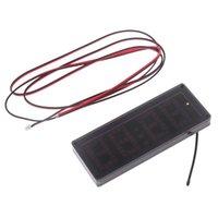 타이머 1 PC 자동차 LED 도트 매트릭스 클럭 온도 전압 디스플레이 4.0 ~ 25V 다기능 3in1 시간 온도계 전압계