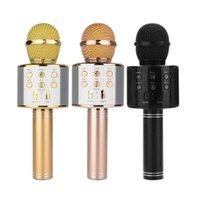 WS-858 Handheld KTV Microphones Bluetooth Wireless Microphone HIFI Speaker Mic Microfono Loudspeaker Portable Karaoke Player