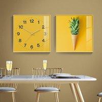 Wall Clocks Modern Design Clock Silent Mechanism Living Room Luxury Loft Industrial Watches Minimalist Decoration Salon KC5ZB
