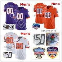 Custom NCAA Clemson Tigers College Football 16 Trevor Lawrence Jersey 9 Travis Etienne JR 21 Darien Rencher 3 Amari Rodgers 4 Deshaun Watson