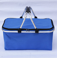 Reutilizável isolado refrigerador saco de almoço caminhadas praia almoço organizador organizador cesta cesta de cesta de compras caixa kka8339