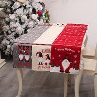 Christmas Tableau de Noël Broderie de Noël Nappe de Noël Vieux sans visage Snowflake PlateMat Maison Festival de vacances Décorations FWB9098