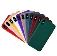 Y925 럭셔리 휴대 전화 케이스 부드러운 터치 실크 스무스 액체 TPU 실리콘 백 케이스 커버 아이폰 6 6S 7 8 Plus X XS XR Max
