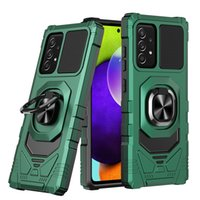 Armor Kingkong Mobile Accessory Phone Case For Samsung Galaxy A52 A72 A42 A12 A02 TPU PC Designer 360 rotating metal ring Car Bracket Cover