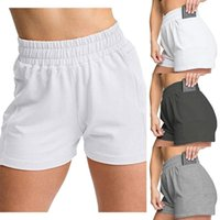 Yoga Outfit Women's Shorts Solid Color Tight-fitting Five-point Pants Adjustable High Waist Boxer Training Swimming Trunks