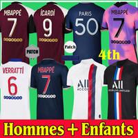 Футболки PSG 20 21 Paris Saint Germain MBAPPE Футболка 2020 2021 NEYMAR JR VERRATTI MARQUINHOS KIMPEMBE ICARDI Футболки для мужчин и детей