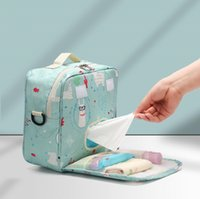 Baby Diaper Bag Printed Waterproof Dry Nappy Zipper Handbag Stroller Carry Pack Travel Outdoor Wet Storage Bags Pocket