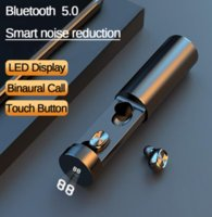 B9 TWS Bluetooth in-ear earbuds 5.0 Wireless Earphone 8D HIFI Sound Sport MIC Earbuds Gaming Earbud Music in-ear Earphone with LED