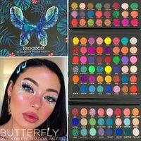 96 Farben Matte Glitter Lidschatten-Palette Bunte Pulver Lidschatten-Palette Make-Up Glitter Lidschatten Pallete Neonauge Pigment