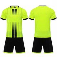2021 축구 세트 Smooth 1901 형광 녹색 축구 땀 흡수 및 통기성 어린이 훈련 슈트