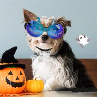 Lunettes de soleil de citrouille d'animal de compagnie Halloween Lunettes colorées drôles Lunettes de chat de chien petit chien