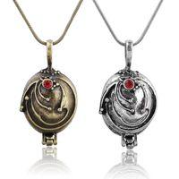 Kolye Kolye Vintage Takı Zincirleri Vampir Günlükleri Elena Vervain Kolye Locket Kolye Elena Nina Altın Gümüş Jewellry 167 Q2