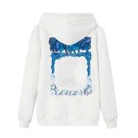 KAPALI 21SS Euramerican Moda Tişörtü Baskı Marka Hoodies Kamuflaj Hırka Klasik Sonbahar Ve Kış İnce Peluş Mens Bayan Ceket Beyaz