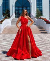 Сексуальные красные вечерние платья 2021 с Дубай Формальные платья Party Promess Платья Арабский Ближний Восток Один плечо Высокий Различный заказ