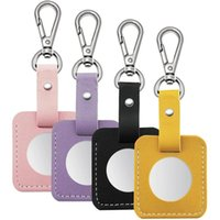 Keychains PU Leather Case For AirTag 4 Pack, Anti-Scratch Protective With Keychain Easy Attach To Keys, Backpacks