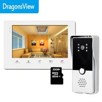 Video Door Phones Dragonsview 7 Inch Intercom System Phone Record Home Security Access Control Unlock Day Night