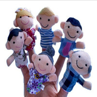 6pcs / lot 가족 손가락 인형 미니 플러시 아기 장난감 소년 소녀 손가락 꼭두각시 교육 스토리 손 꼭두각시 천으로 인형 장난감
