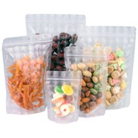 1000Pcs 3D Clear Plastic Stand Up Zipper Lock Package Bag Recyclable Zipper Self Sealable Pouches Cookies Food Storage Bag