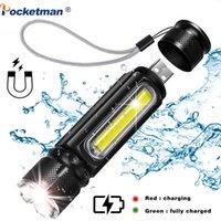 5000 Lumen LED-taktische, USB-Akku, beste wasserfeste Arbeitslicht mit 4 Modi