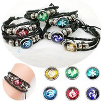 8 styles Genshin Impact Game Cosplay Prop Eye of God Water Wind Thunder Fire Rock Ice Element Bracelet Jewelry Accessories