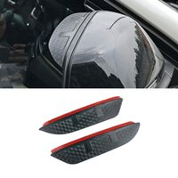 For Mercedes-Benz R-Class 2006-2017 W251 Car Stickers Side Rearview Mirror Rain Eyebrow Visor ABS Carbon Fiber SunShade Guard Accessories